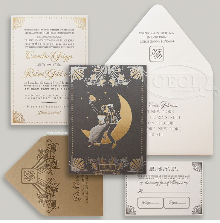 252 best ceci new york invitations images on pinterest for Wedding invitation companies nyc