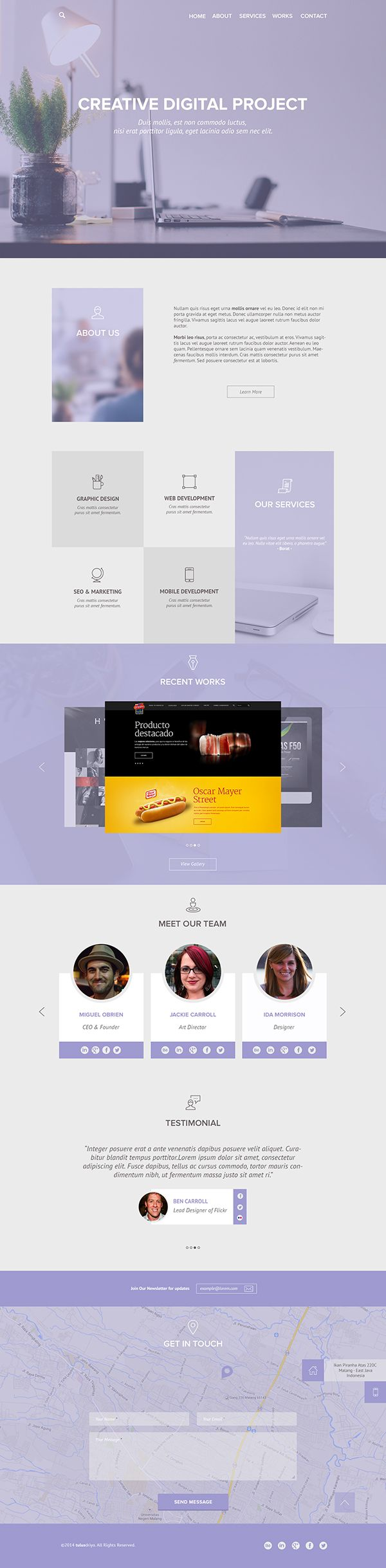 PSD Template | Clean & Flat Web Portfolio Design on Behance