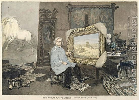 Rosa bonheur 1822 99 in her studio from le petit journal 3rd june 1893 by - Studio petit journal ...