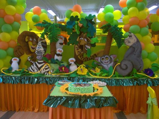 Decoraciones de madagascar para fiestas infantiles - Decoraciones fiestas de cumpleanos ...