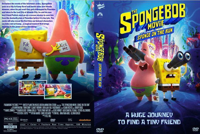 The Spongebob Movie Sponge On The Run 2020 Dvd Custom Cover In