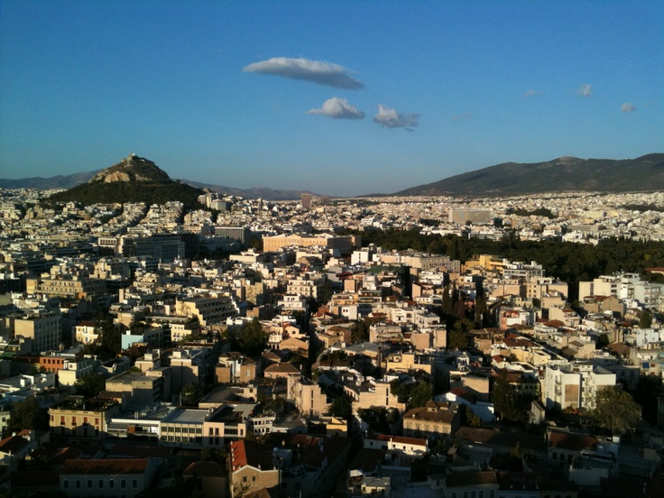 View of Lycabettus hill