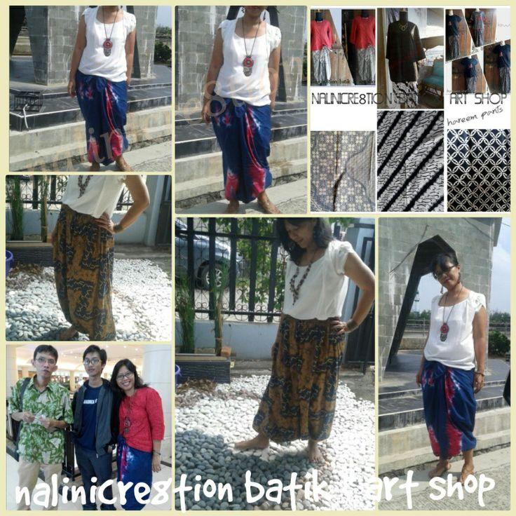 Celana hareem / hareem pants Batik & tie dye shibori