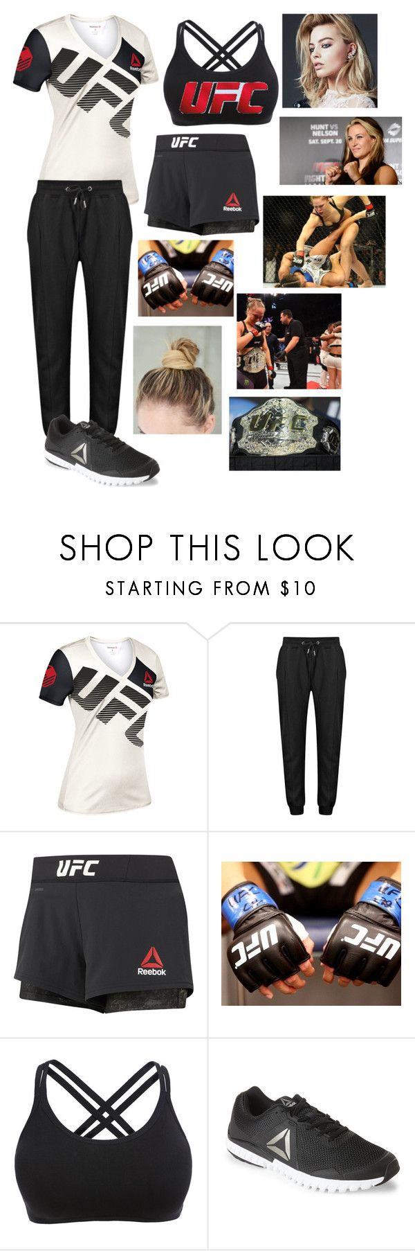 """UFC -- Beating Miesha Tate"" by somenormalpanda ❤ liked on Polyvore featuring Reebok and Champion"