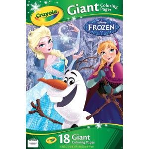 Crayola Frozen Giant Coloring Pages Its a big size,  making it easy for the younger ones to color in the lines. There are 18 pages of pure coloring fun. http://awsomegadgetsandtoysforgirlsandboys.com/creative-easter-basket-ideas/ Crayola Frozen Giant Coloring Pages