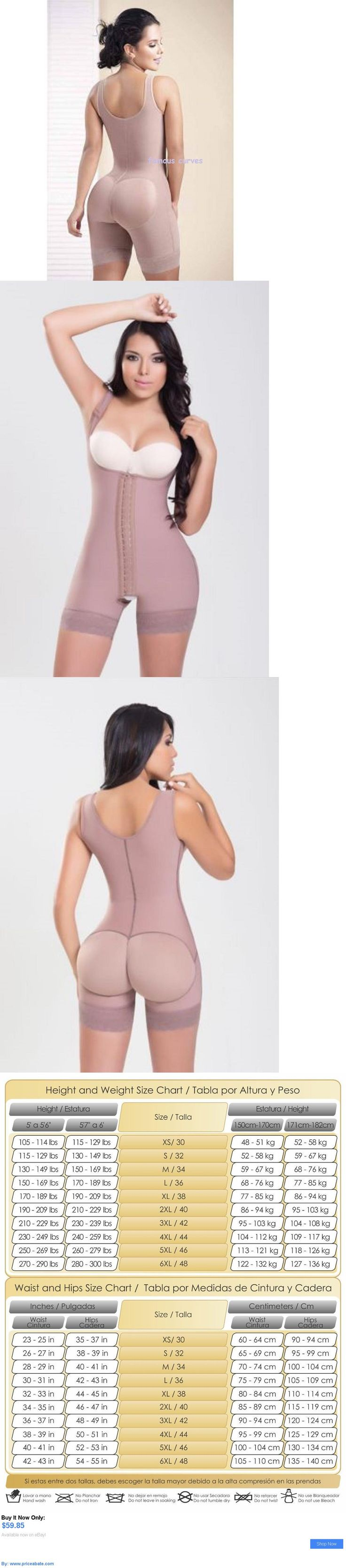 Women Shapewear: Fajas Colombianas Shapewear 3 Hooks Latex Waist Trainer Cincher Faja Reductoras BUY IT NOW ONLY: $59.85 #priceabateWomenShapewear OR #priceabate