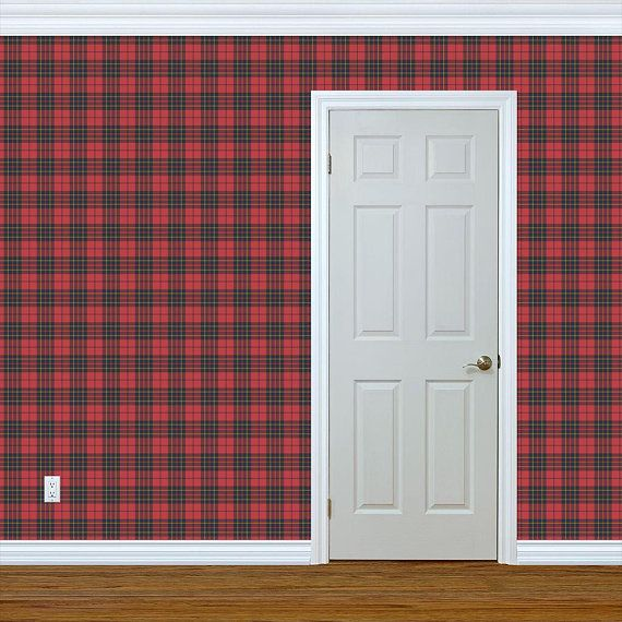 Brodie Tartan Wallpaper Brodie Tartan By Weavingmajor Etsy Tartan Wallpaper Quick Decor Drawer And Shelf Liners