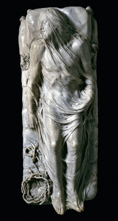 Giuseppe Sanmartino - Cristo Velato (Veiled Christ). Marble from a single block of stone.