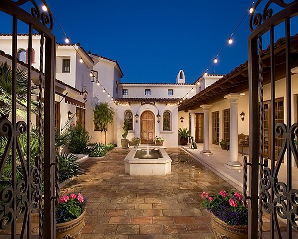257 best images about exterior tuscan homes on pinterest for Hacienda style lighting