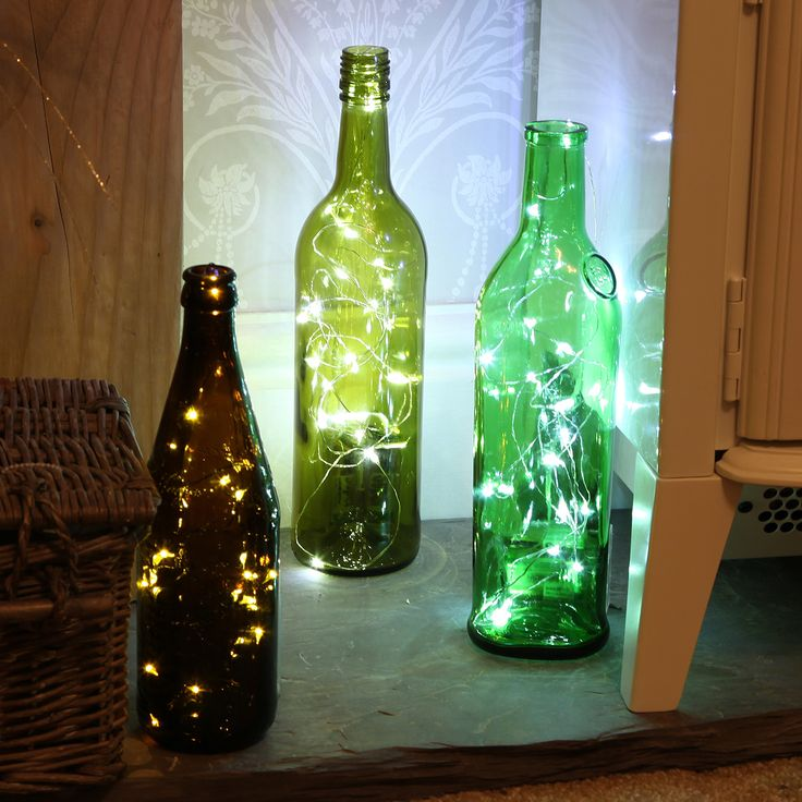 Sticking to a budget? Re use wine or #champagne bottles and pop some silver wire…