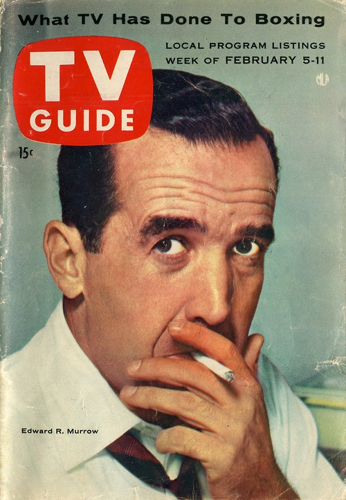 Edward R. Murrow, cover of TV Guide, February 5, 1955