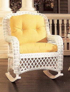 This Wicker Rocker From Wicker Outlet Would Make The Perfect