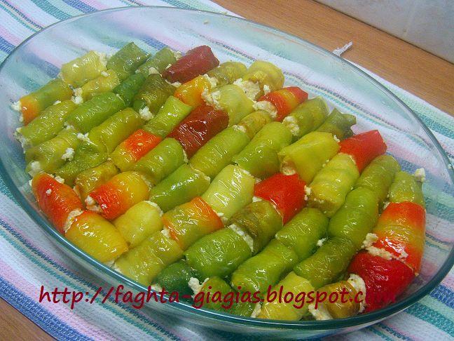 Τα φαγητά της γιαγιάς - Ρολάκια πιπεριάς με ανθότυρο και φέτα