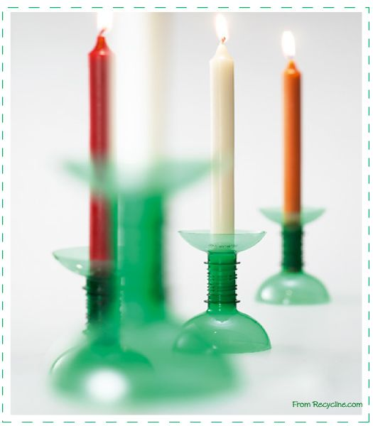 PET candle holder recycline