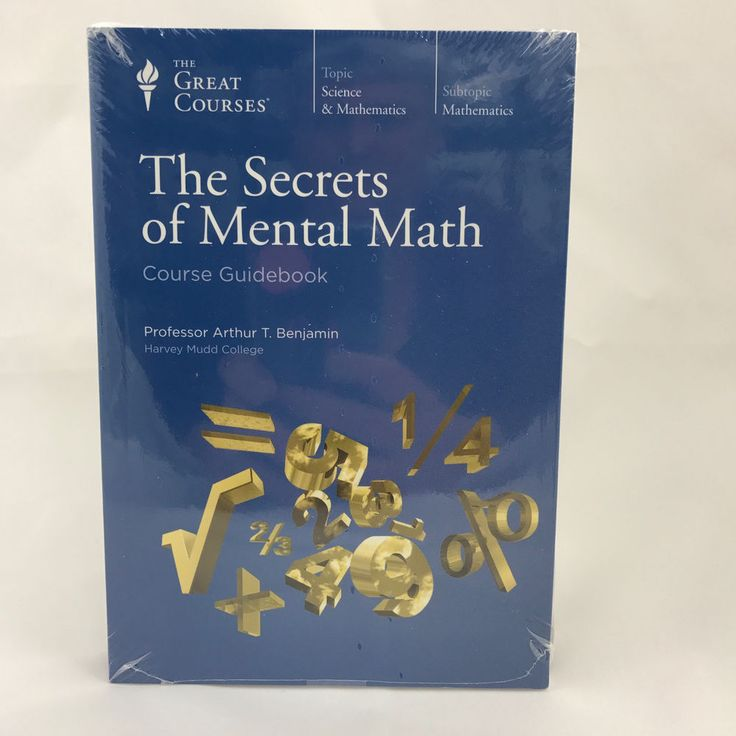 58 best books images on pinterest book corners book nooks and boxing the great courses the secrets of mental math dvds guidebook new sealed ad fandeluxe Image collections
