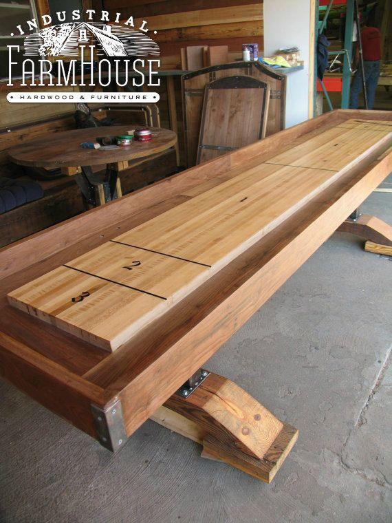 SHUFFLEBOARD: Artisan Shuffleboard Table By IndustrialFarmHouse