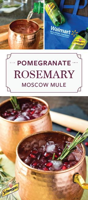 Ready for a festive twist on the classic Moscow Mule? Mix together Schweppes Ginger Ale, muddled rosemary, pomegranate juice, vodka, and citrus to get this refreshing and fun Pomegranate and Rosemary Moscow Mule recipe! Your holiday party simply wouldn't be the same without his colorful cocktail, so pick up all the ingredients and essentials you need at Walmart to get started.