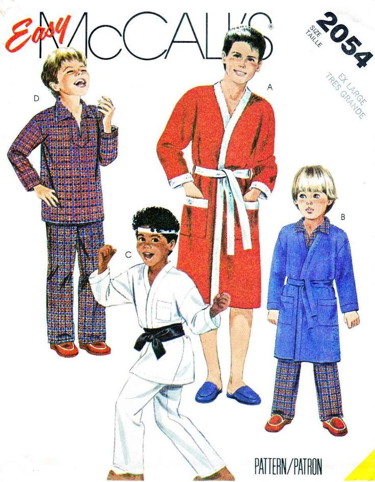 Mccall s sewing pattern boys size easy robe