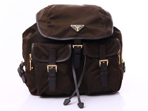Official Prada Nylon Backpack - Brown Shop On Line