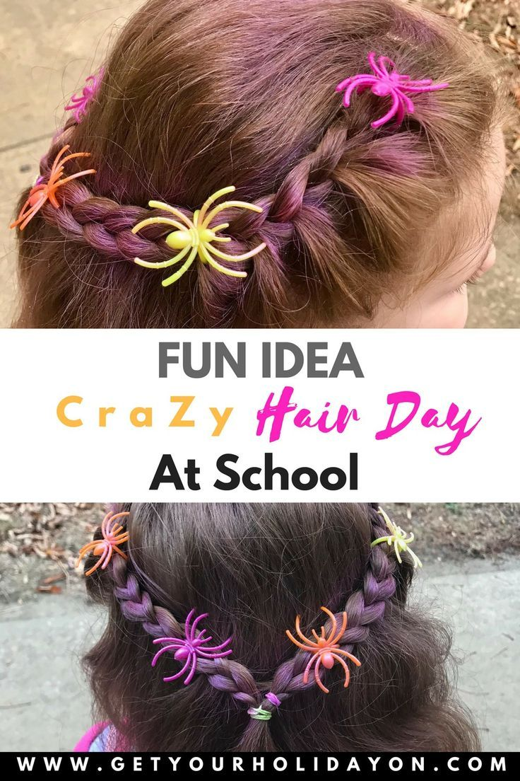 Simple And Easy Crazy Hair For School Spirit Week With Images