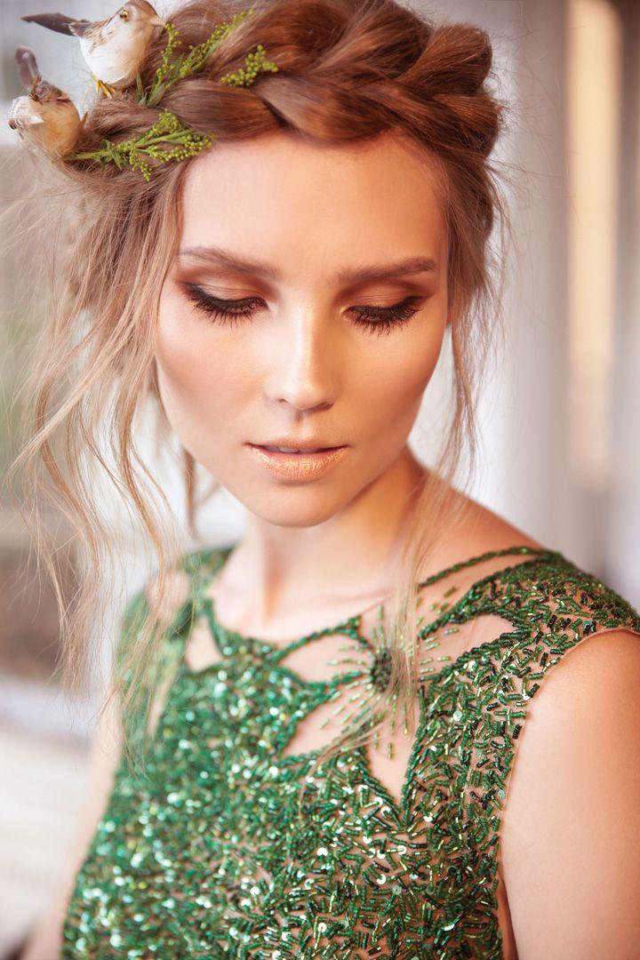 Green beaded dress   Arte Sacra 2014 Collection