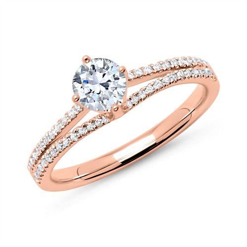 Diamantring verlobung gold  Die besten 20+ Verlobungsring 1 ct Ideen auf Pinterest | einfache ...
