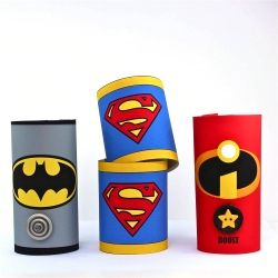 Make these cute super hero cuffs from toilet rolls - includes tutorial and free printables; so simple