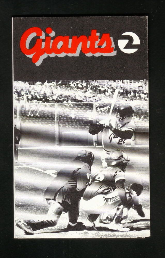 1982 San Francisco Giants Schedule--Union76 #sfgiants #Pocket