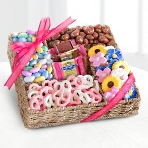 47 best gift baskets galore images on pinterest gift baskets spring chocolates treats online flower deliverychocolate treatseaster giftgift basketshamperadministrative negle Images