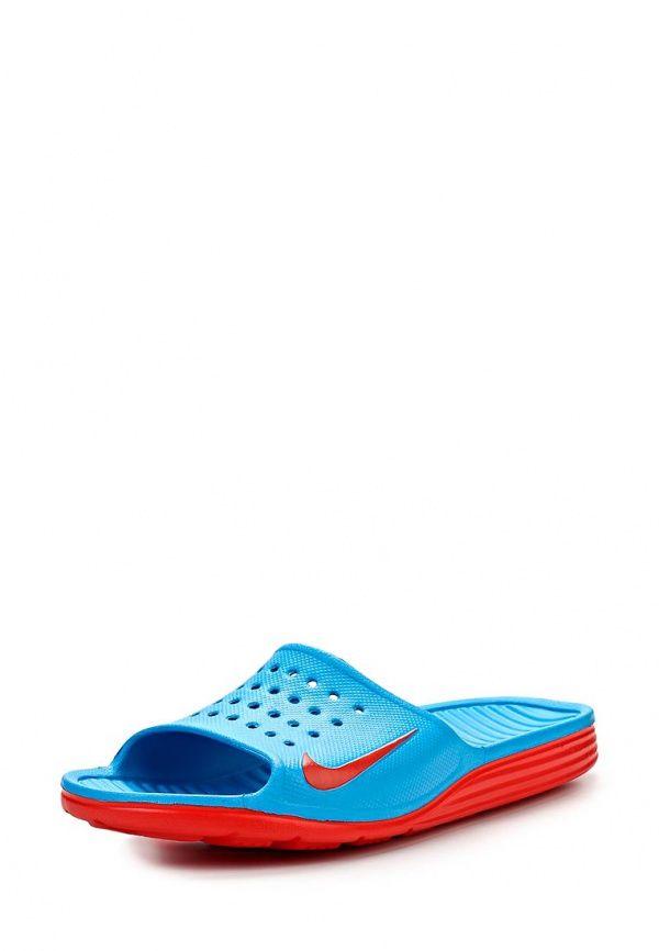 Сланцы Nike / Найк мужские. Цвет: голубой. Материал: искусственный материал. Сезон: Весна-лето 2014. С бесплатной доставкой и примеркой на Lamoda. http://j.mp/1n7sjop