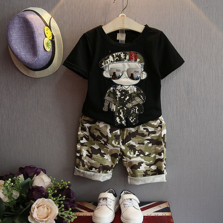 >> Click to Buy << Summer Children Baby Boy Clothes Sets Kids 2pcs Short Sleeves T-Shirt Toddler Suits Camouflage Shorts Kids Clothing Tops + pants #Affiliate