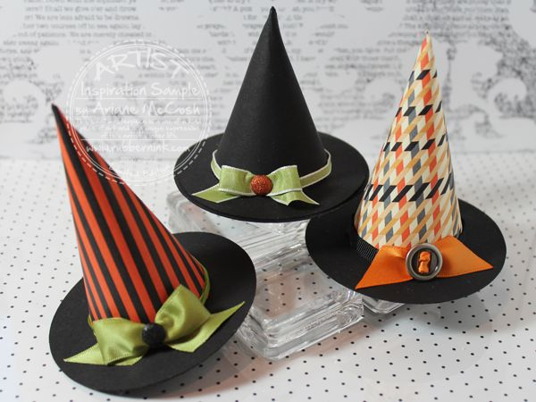 We love these Halloween hats and the awesome template!