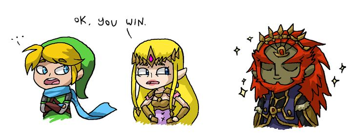 In the battle of long and luscious hair, Ganondorf wins.