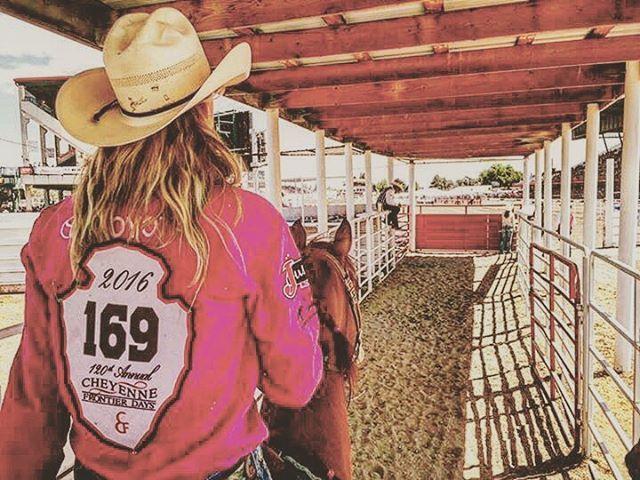Sherry & Arson at Cheyenne #cheyennefrontierdays #sherrycervi #teamsherry…