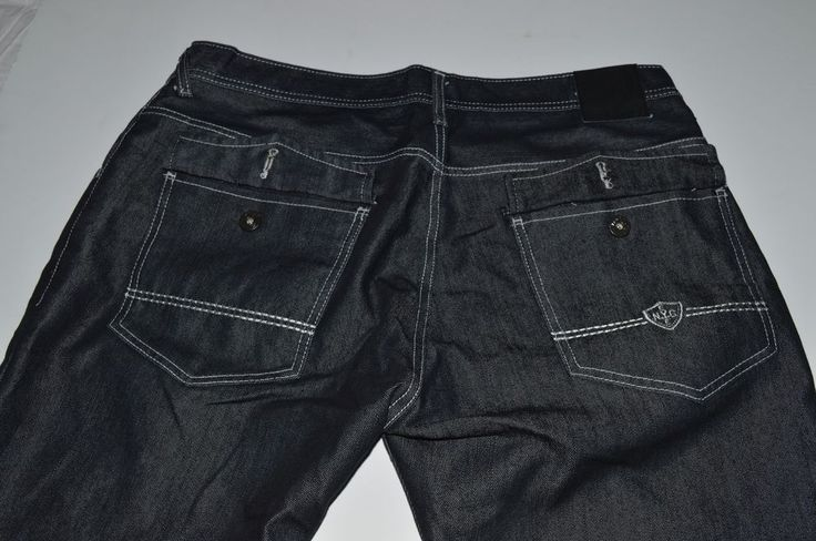ENYCE Sean Combs Black Wash Jeans Swag 40W 32L Urban #Enyce #BaggyLoose