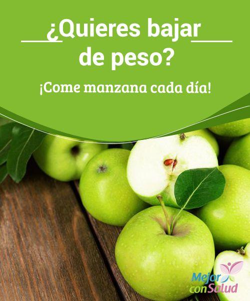 ¿Quieres bajar de peso? ¡Come manzana cada día!  Una fruta tan deliciosa como la #Manzana puede ayudar a prevenir la #Obesidad. Descubre por qué la manzana ayuda a bajar de peso y cuál es la mejor variedad. #PerderPeso
