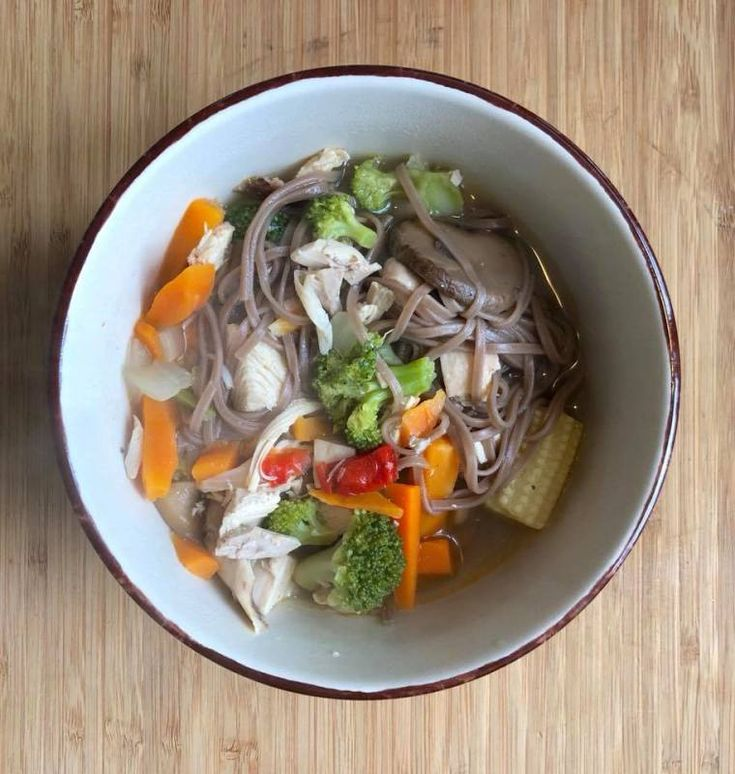 Chinese Chicken Noodle Soup #cleaneating #pantry #comfortfood #chickenrecipes #easydinner