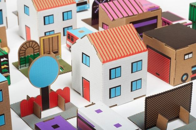 papierowe miasto // Paper City play set   FUTU.PL