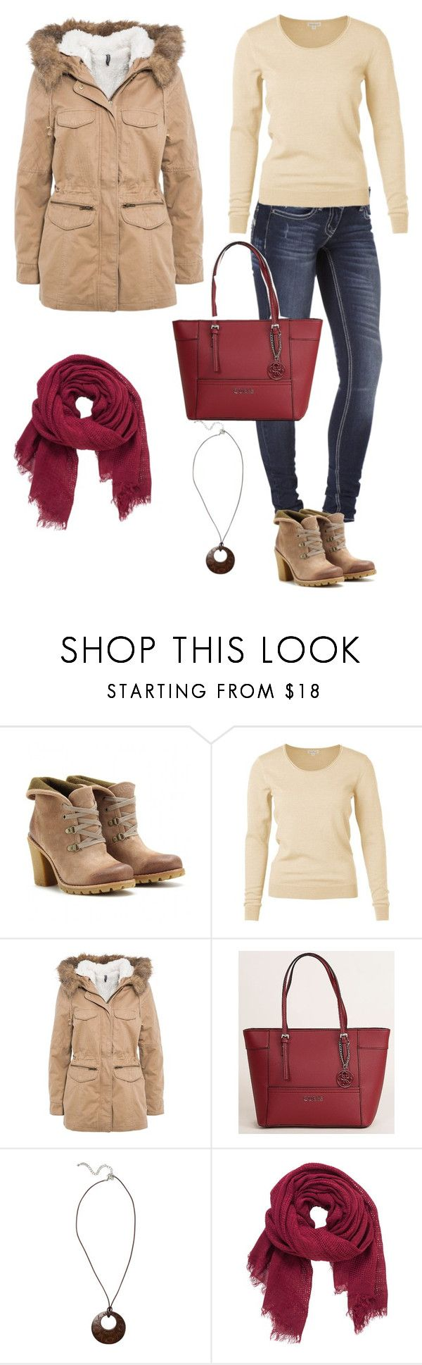 """""""ankle boots"""" by liliana-vaccara ❤ liked on Polyvore featuring UGG Australia, Naf Naf, GUESS, Fat Face and maurices"""