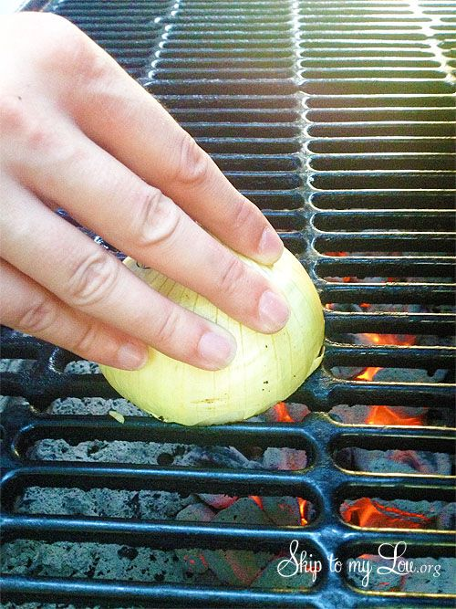How to make your grill non-stick....rub cut onion on a hot grill...gotta try this one!!