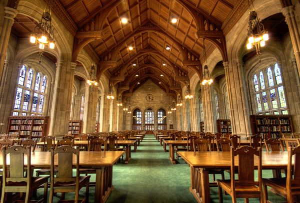 You can almost taste the holiness of this one: Bapst Library, Boston College, Boston, MA