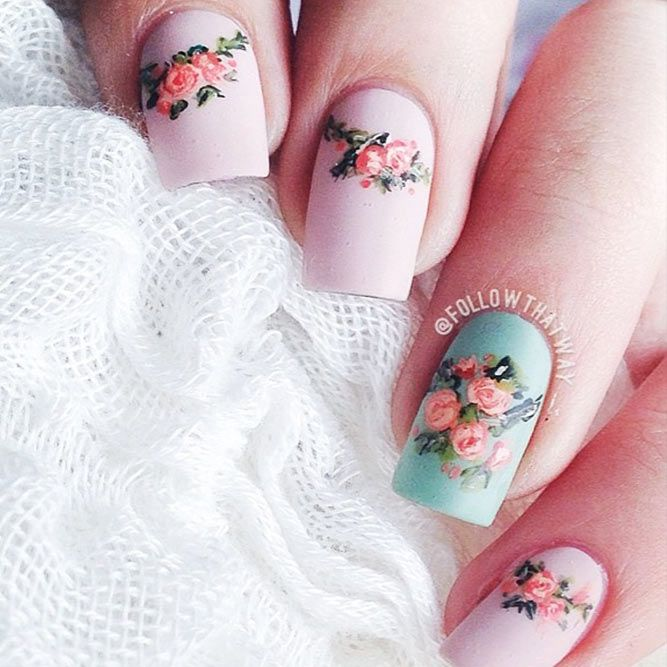 t's time to check out the latest spring nail designs as spring is on the way. Nail art is just as trendy as ever, and this year is no exception. There are plenty of hot new nail designs for the spring season. Come and find the best one for you! #springnails #naildesigns #floralnails