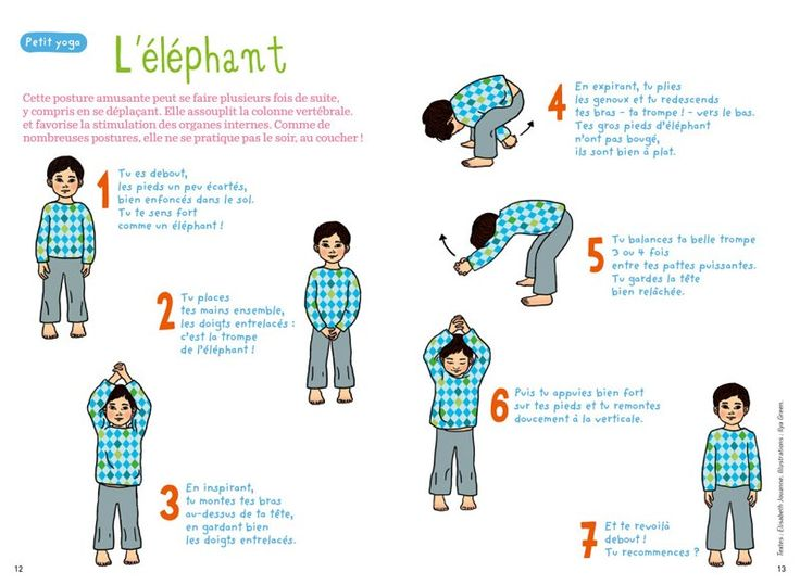 petit yoga de pomme d'api : l'éléphant