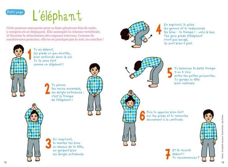 L'éléphant : cette posture assouplit la colonne vertébrale. A ne pas pratiquer le soir avant le coucher. @raphaellemalaspina