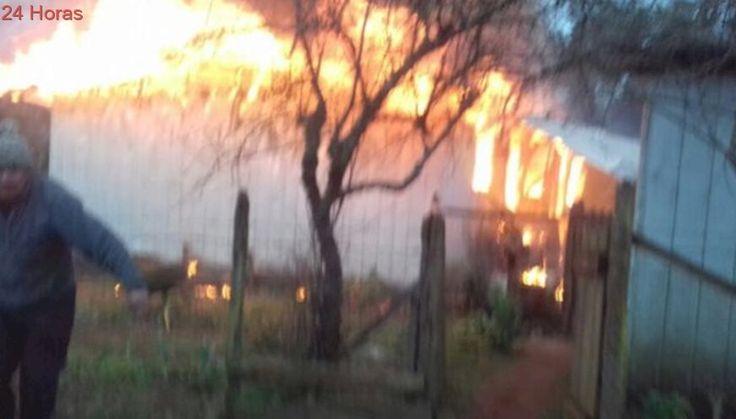 Detienen a hombre que habría quemado su propia casa en la comuna de Río Bueno
