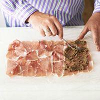 Spread mix on ham