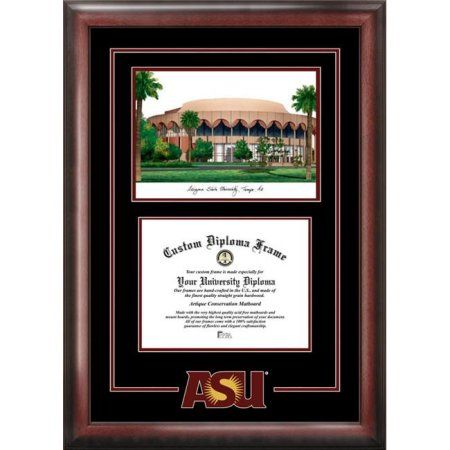 Arizona State University 8.5 inch x 11 inch Spirit Graduate Diploma Frame with Campus Images Lithograph
