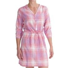 Columbia Sportswear Coral Springs Dress - 3/4 Sleeve (For Women) in Tango Pink Gingham - Closeouts