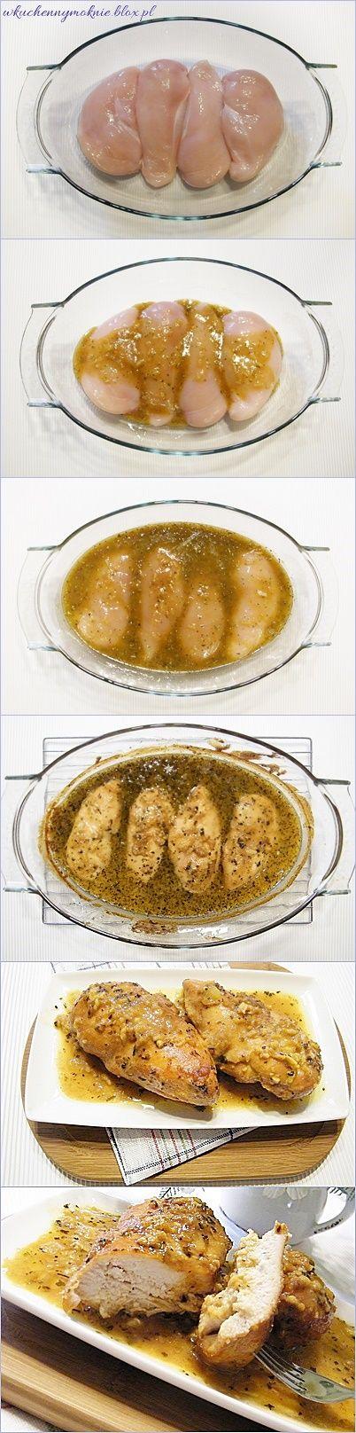 filety z kurczaka w sosie miodowo-musztardowym