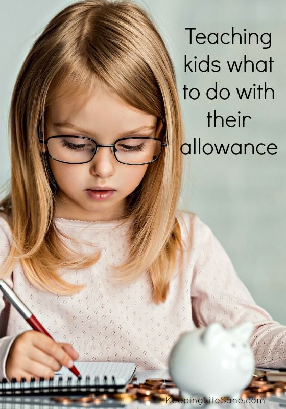 Teaching Kids What to do with their Allowance - Keeping Life Sane